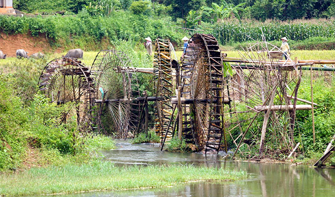 Stunning water wheels in North-West Vietnam